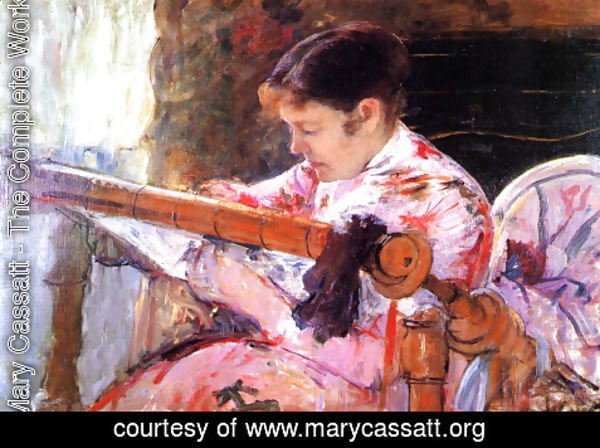 Mary Cassatt - Lydia at the Tapestry Loom