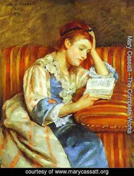 mary cassatt the complete works young woman reading