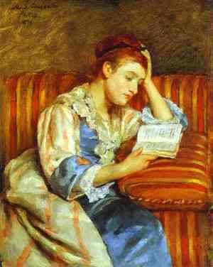 Mary Cassatt - Young Woman Reading