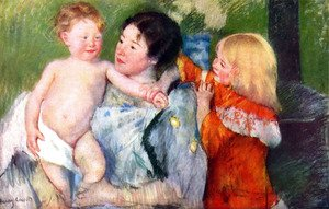 Mary Cassatt - After bath