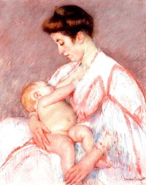 Mary Cassatt - Baby John Being Nursed