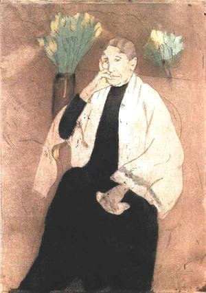 Mary Cassatt - Portrait of Master St. Pierre (study)