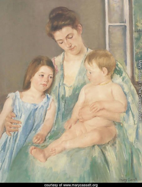 Young Mother And Two Children 1908
