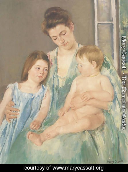 Mary Cassatt - Young Mother And Two Children 1908
