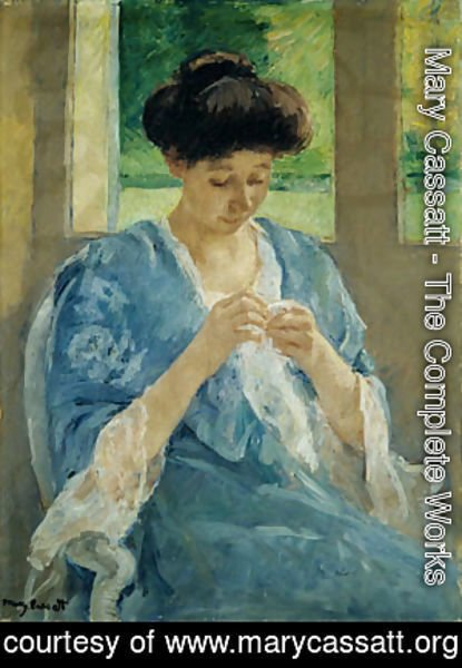 Mary Cassatt - Augusta Sewing Before a Window 1905