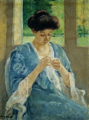 Augusta Sewing Before a Window 1905