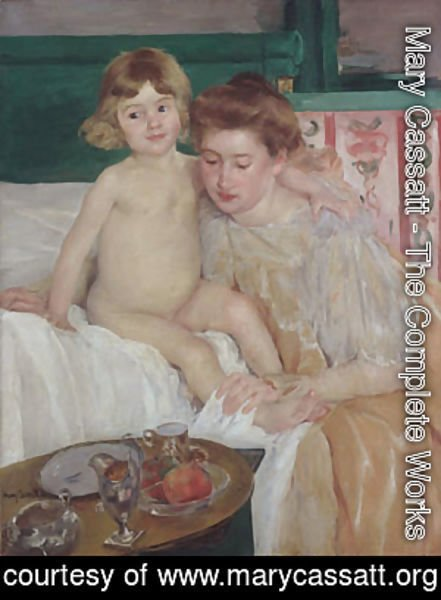Mary Cassatt - Mother and Child (Baby Getting Up from His Nap)