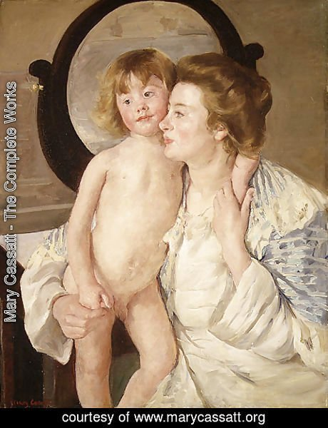 Mary Cassatt - Mother and Child (The Oval Mirror) 1899