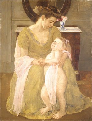 Mary Cassatt - Mother and Child with a Rose Scarf 1908