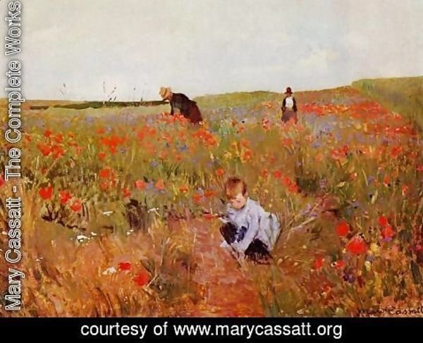 Mary Cassatt - Poppies in a Field 1874-1880