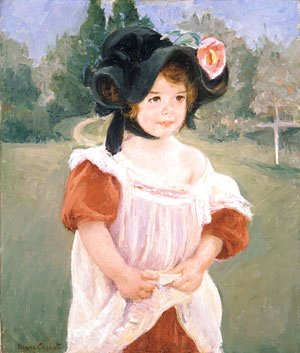 Mary Cassatt - Spring Margot Standing in a Garden (Fillette dans un jardin) 1900