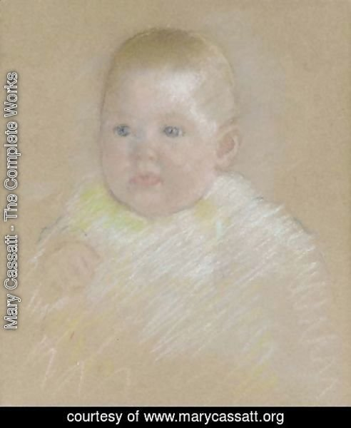 Mary Cassatt - Head of a Baby