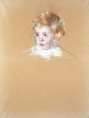 Mary Cassatt - Study for the portrait of a child