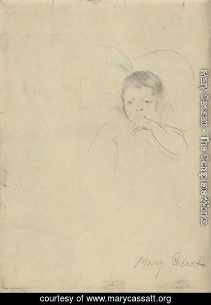 Mary Cassatt - Two Children, One Sucking Her Thumb A Double Sided Work