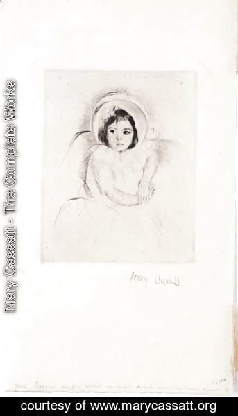 Mary Cassatt - Margot Wearing A Bonnet 2