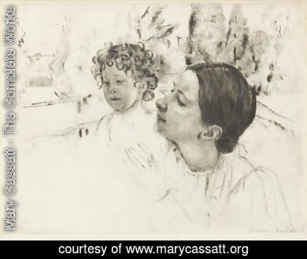 Mary Cassatt - By The Pond 2
