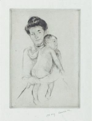 Mary Cassatt - Mother Holding Nude Baby