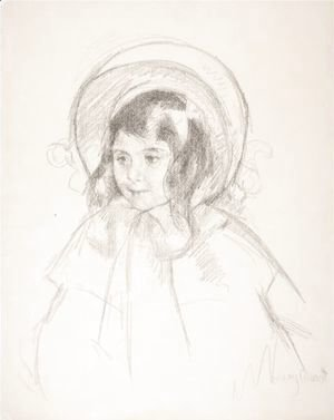 Mary Cassatt - Sara Wearing Her Bonnet And Coat
