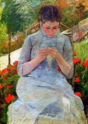 Mary Cassatt - Woman with Needlework