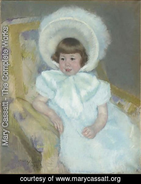 Mary Cassatt - Portrait of Louise Aurora child Villeboeuf