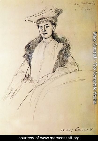 Mary Cassatt - Portrait of Mme. Fontveille