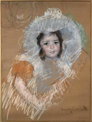 Mary Cassatt - Margot Lux with a wide hat