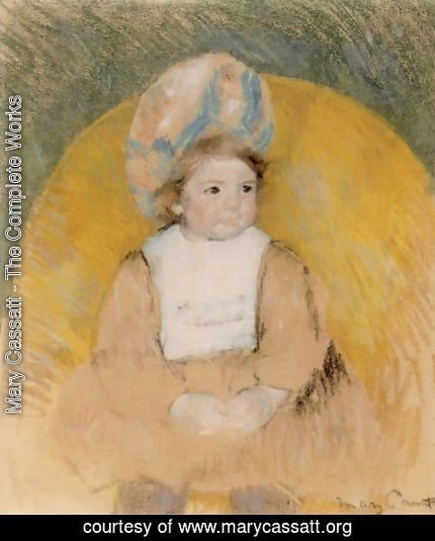 Mary Cassatt - Young Girl Seated in a Yellow Armchair