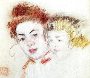 Mary Cassatt - Sketch of Reine and Child