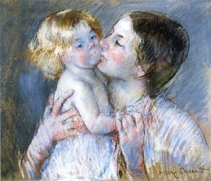 Mary Cassatt - A Kiss For Baby Anne2