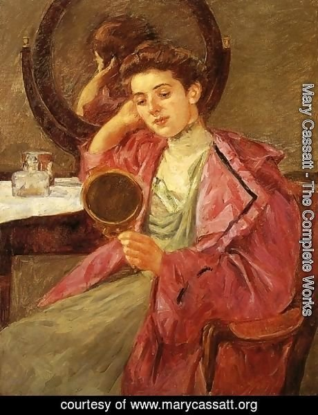 Mary Cassatt - Antoinette At Her Dressing Table