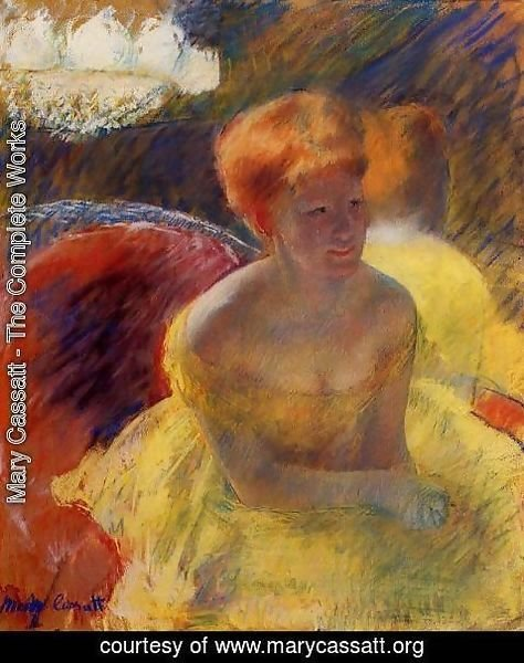 Mary Cassatt - At The Theater Aka Lydia Cassatt Leaning On Her Arms  Seated In A Loge