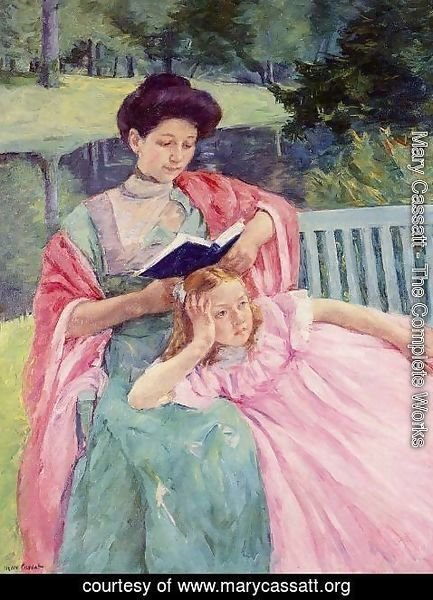 Mary Cassatt - Auguste Reading To Her Daughter