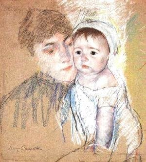 Mary Cassatt - Baby Bill In Cap And Shift