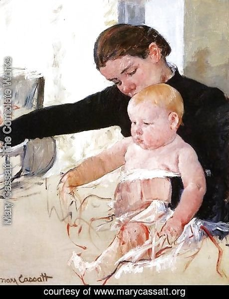 Mary Cassatt - Bathing The Young Heir