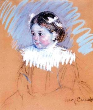 Mary Cassatt - Bust Of Ellen Wiith Bows In Her Hair