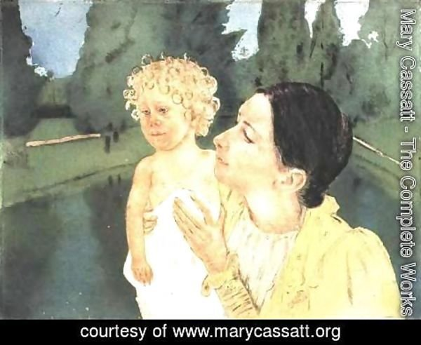 Mary Cassatt - By The Pond