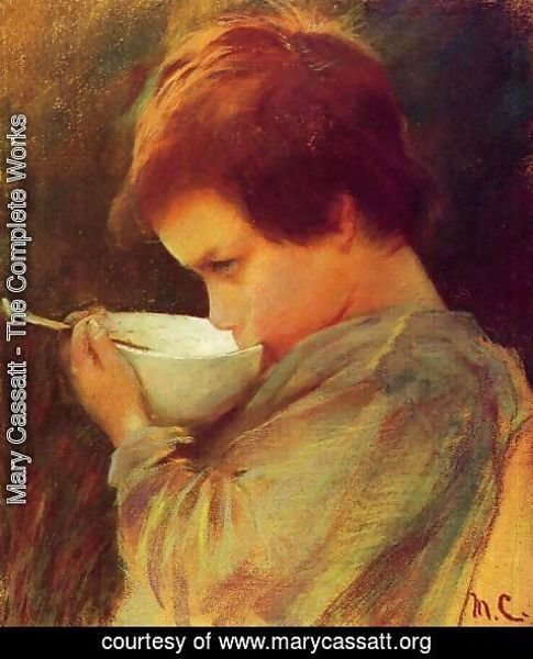 Mary Cassatt - Child Drinking Milk