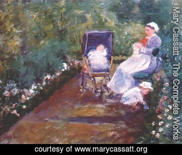 Mary Cassatt - Children In A Garden