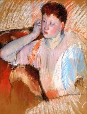 Mary Cassatt - Clarissa  Turned Left  With Her Hand To Her Ear