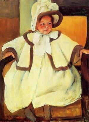 Mary Cassatt - Ellen Mary Cassatt In A White Coat