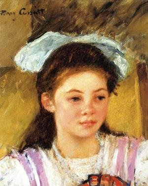 Mary Cassatt - Ellen Mary Cassatt With A Large Bow In Her Hair