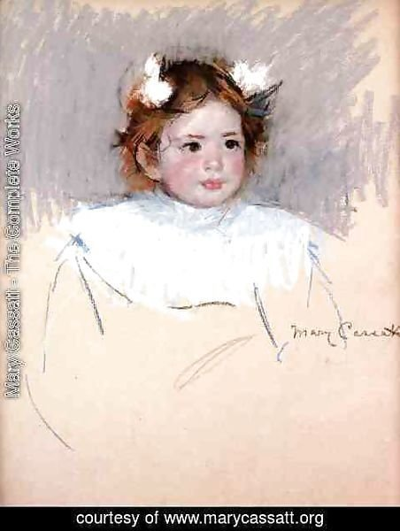Mary Cassatt - Ellen With Bows In Her Hair  Looking Right