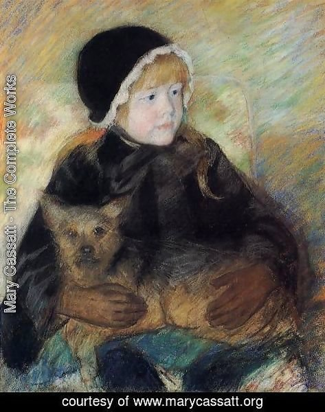 Mary Cassatt - Elsie Cassatt Holding A Big Dog