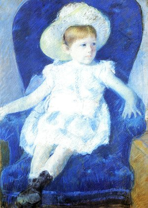 Mary Cassatt - Elsie In A Blue Chair