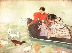 Mary Cassatt - Feeding The Ducks