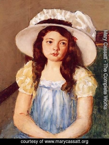 Mary Cassatt - Francoise Wearing A Big White Hat