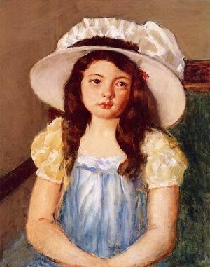 Francoise Wearing A Big White Hat
