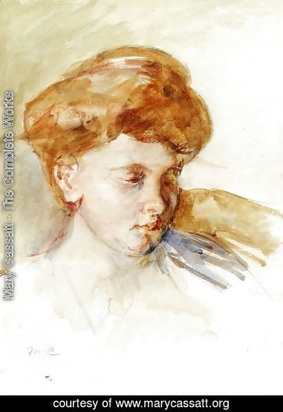 Mary Cassatt - Head Of A Young Woman