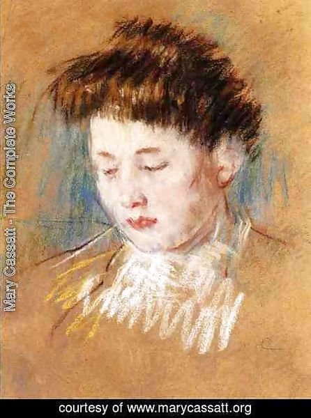 Mary Cassatt - Head Of Julie  Looking Down