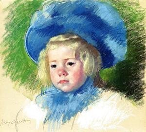 Mary Cassatt - Head Of Simone In A Large Plumes Hat  Looking Left